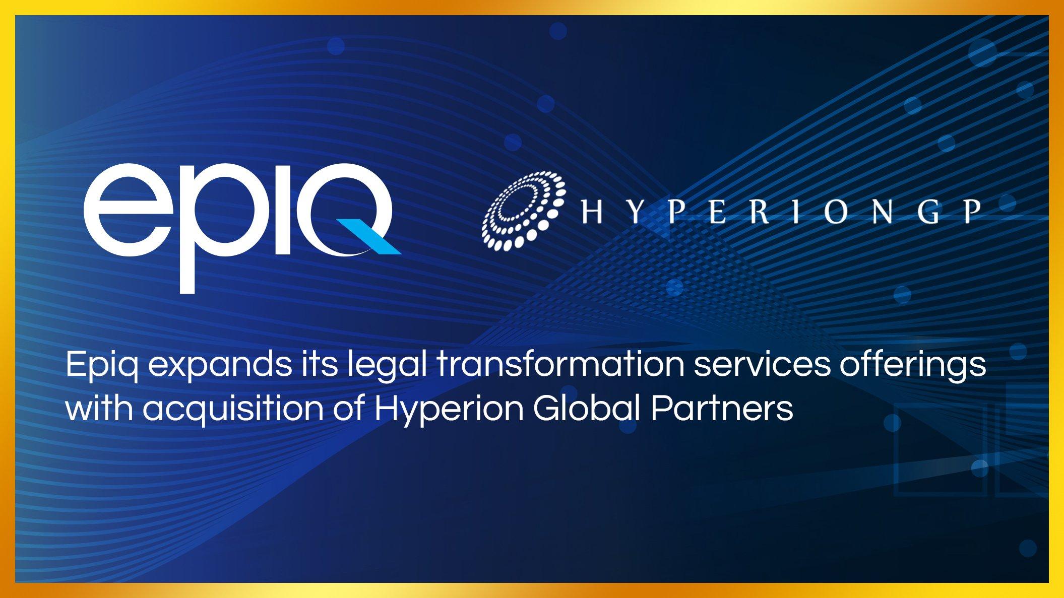 Hyperion Announces Acquisition by Epiq